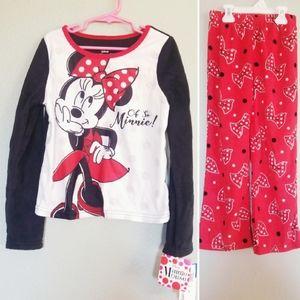 New! Disney Minnie Mouse Pajama Set